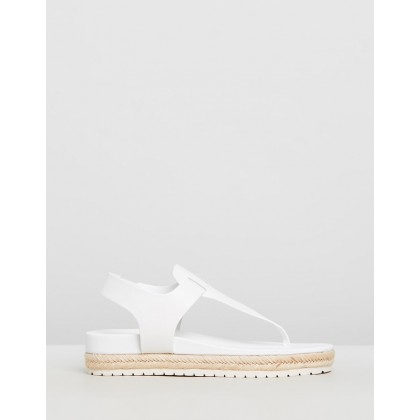 Flint Leather Sandals Off-White by Vince