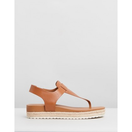 Flint Leather Sandals Almond by Vince