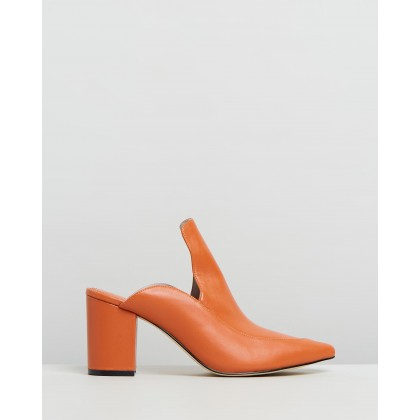 Florence Heeled Mules Rust by Mara & Mine