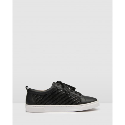 Focal Sneakers Black Leather by Jo Mercer