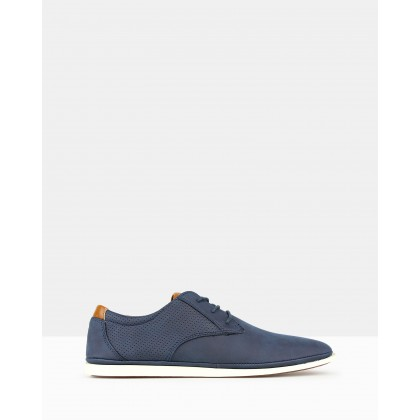 Focus Casual Lace Up Shoes Navy by Zu