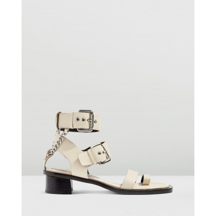 Forever Chain Sandals Ecru by Topshop