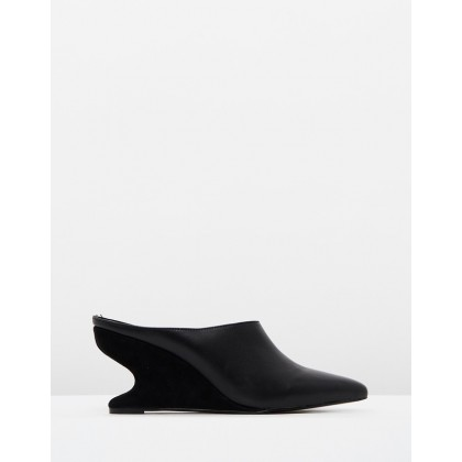 Form Wedge Mules Black by Jaggar The Label