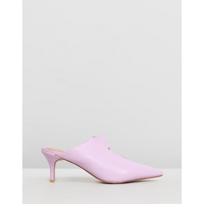 Frame Kitten Heels Lilac by Jaggar The Label