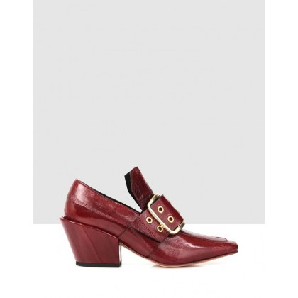 Frana Court Shoes Burgundy by Beau Coops