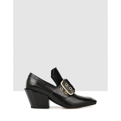 Frana Court Shoes Black by Beau Coops