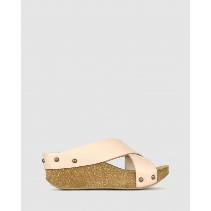 Franca Cork Wedge Sandals Ice by Airflex
