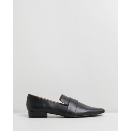 Frances Leather Loafers Black Leather by Atmos&Here