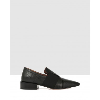 Franklin Slip Ons Black by Beau Coops