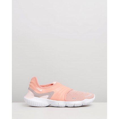 Free RN Flyknit 3.0 - Women's Pink Quartz, White & Echo Pink by Nike