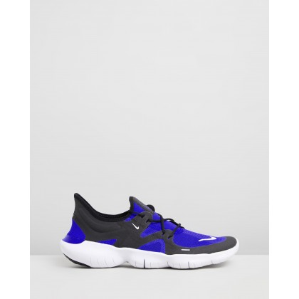 Free Run 5.0 - Men's Racer Blue, Black & White by Nike