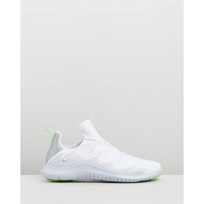 Free TR 9 - Women's White, Metallic Platinum & Pure Platinum by Nike