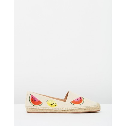 Fruit Salad Embroidered Espadrilles Sundried Linen by J.Crew