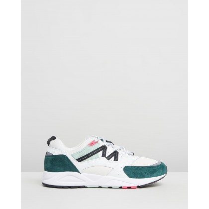 Fusion 2.0 - Men's Bright White & Posy Green by Karhu