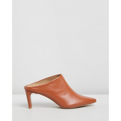 Gabby Mules Tan Smooth by Spurr