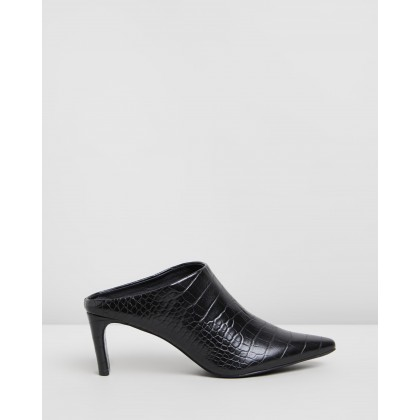 Gabby Mules Black Croc by Spurr