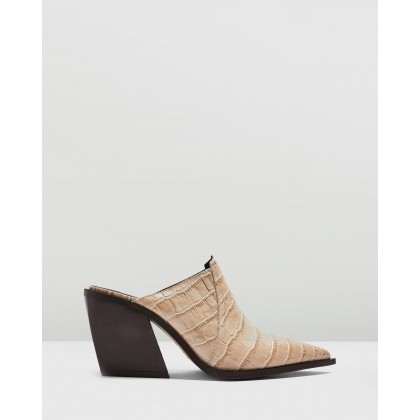 Gabe Western Mules Nude by Topshop