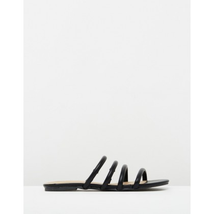 Gabriella Slides Black Smooth by Spurr