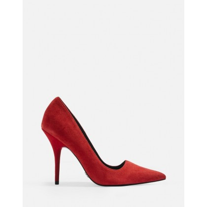 Game Elongated Stilettos Red by Topshop