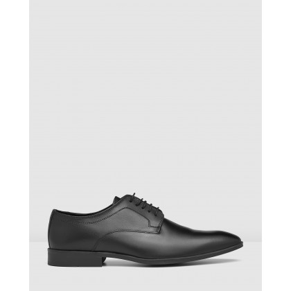 Gawn Lace Up Shoes Black by Aq By Aquila