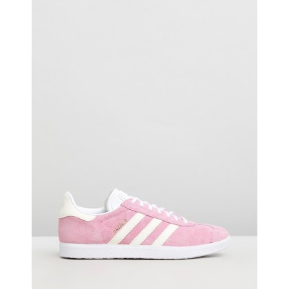 Gazelle - Women's True Pink, Ecru Tint & Feather White by Adidas Originals