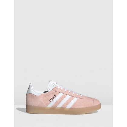 Gazelle - Women's Clear Orange, Footwear White & Ecru Tint by Adidas Originals