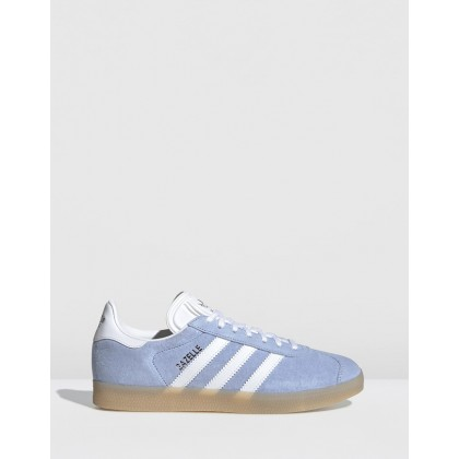 Gazelle - Women's Periwinkle, Footwear White & Ecru Tint by Adidas Originals
