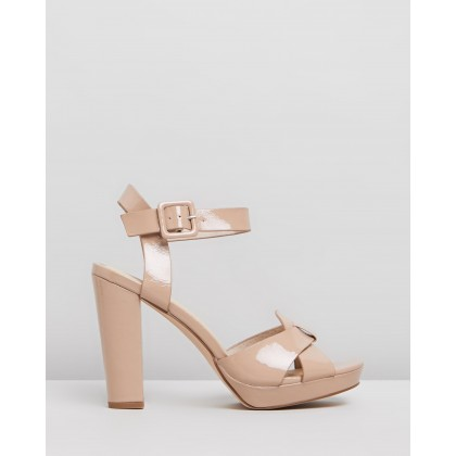 Geneva Nude Patent Crinkle by Nude