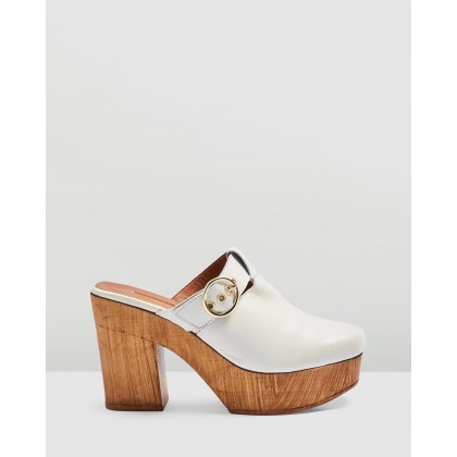Genoa Mule Clogs Off-White by Topshop