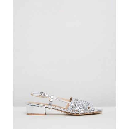 Giana Heels Silver Metallic Smooth by Spurr
