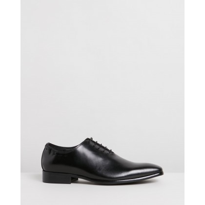 Gibbs Leather Oxford Shoes Black by Double Oak Mills