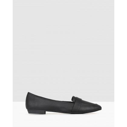 Gigi Point Toe Flats Black by Betts