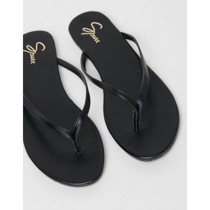 Gigi Sandals Black Smooth by Spurr