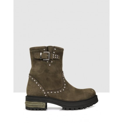 Gila Ankle Boots Green by S By Sempre Di