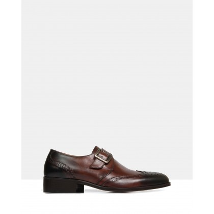 Gilbert Monk Straps Brown by Brando