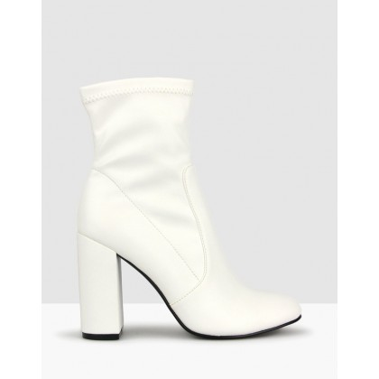 Ginger Sock Boots White by Betts