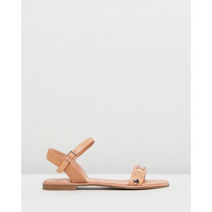 Gisele Sandals Tan Leather by Jo Mercer