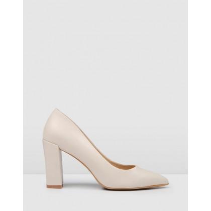 Gisella High Heels Bone Leather by Jo Mercer