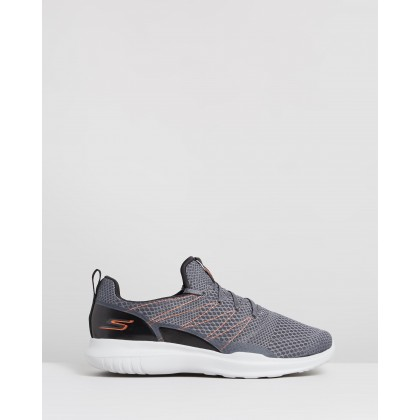 Go Run Mojo - Radar - Men's Charcoal & Orange by Skechers
