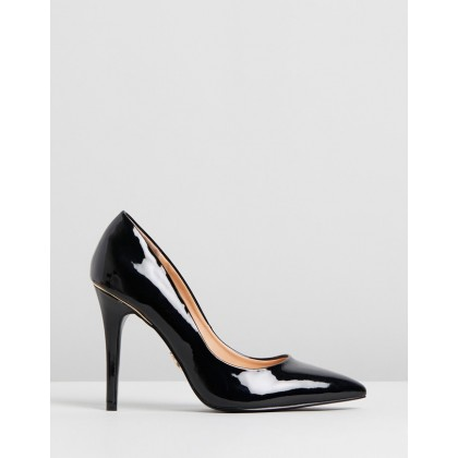 Gold Trim Courts Black by Lipsy