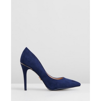 Gold Trim Courts Navy by Lipsy