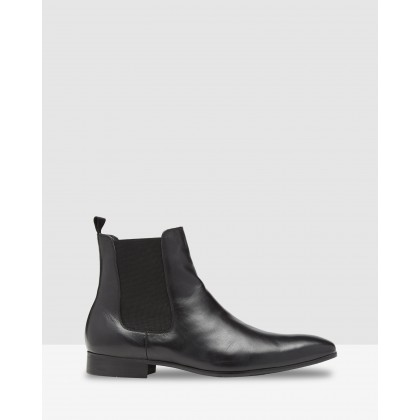 Gordon Leather Chelsea Boots Black by Oxford