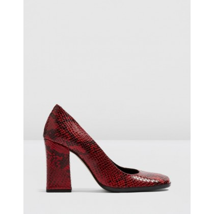 Gosh 90's Court Shoes Red by Topshop