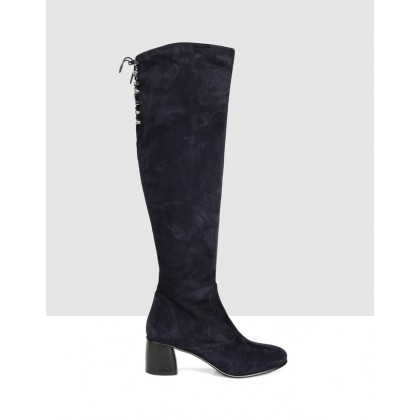 Gracia High Boots NAVY by S By Sempre Di