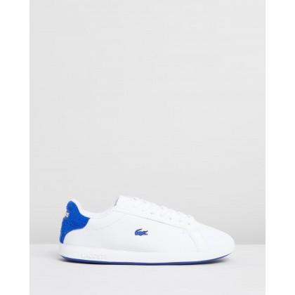 Graduate 319 1 Sneakers - Women's White & Blue by Lacoste