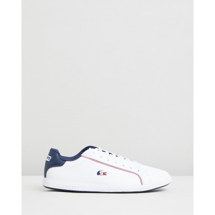 Graduate - Men's White, Navy & Red by Lacoste