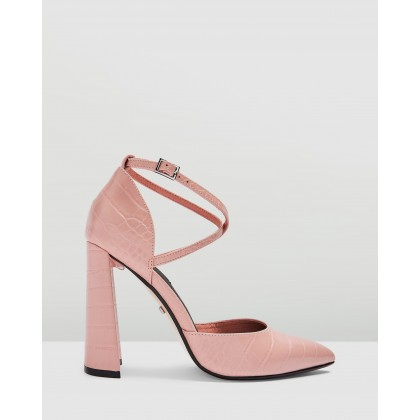 Grape Flare Heels Pink by Topshop