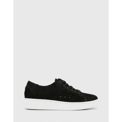 Graphite Lace Up Sneakers Black by Wittner