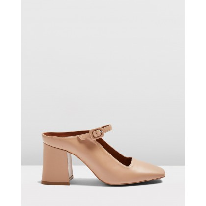 Grenadine Square Mules Nude by Topshop