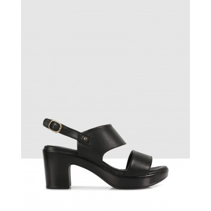 Greta Block Sandals Black/black by S By Sempre Di